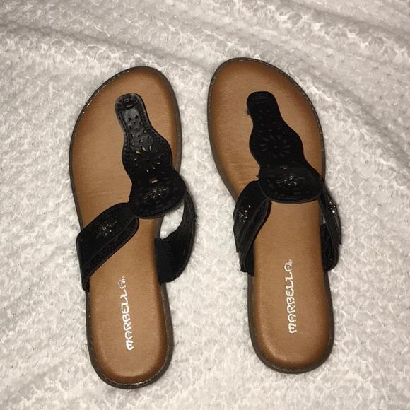 marbella Shoes | Cute Black Sandals